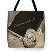 1955 Chevrolet Belair Clock Tote Bag