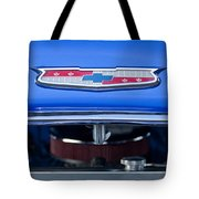 1955 Chevrolet Belair Hood Emblem 4 Tote Bag