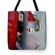 1955 Chevrolet Belair Taillight Emblem Tote Bag