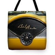 1955 Chevy Belair Clock Tote Bag