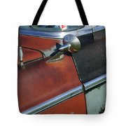 1955 Chrysler Windsor Deluxe Emblem Tote Bag