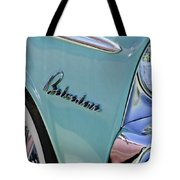 1955 Plymouth Belvedere Emblem Tote Bag