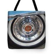 1956 Cadillac Front Wheel Tote Bag
