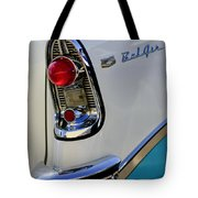 1956 Chevrolet Belair Taillight Emblem Tote Bag