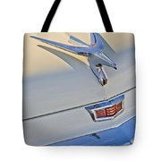 1956 Chrysler Windsor Town And Country  Hood Ornament Tote Bag