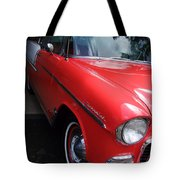 1956 Red And White Chevy Tote Bag