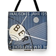 1957 - 1958 East German Sputnik Stamp Tote Bag
