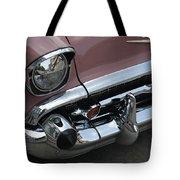 1957 Coral Chevy Bel Air Tote Bag