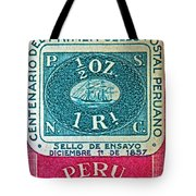 1957 Peru Ten Centavos Stamp Tote Bag