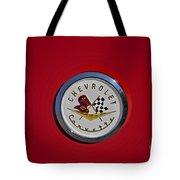 1957 Red Corvette Emblem Tote Bag