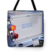 1958 Dodge Sweptside Pickup Taillight Tote Bag