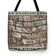 1958 Lincoln-douglas Debates Stamp Tote Bag