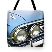 1960 Chevrolet Impala Front End Tote Bag