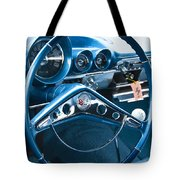 1960 Chevrolet Impala Steering Wheel Tote Bag
