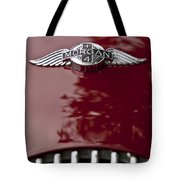 1960 Morgan Plus Four Drophead Coupe Hood Emblem Tote Bag