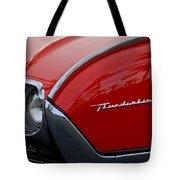 1961 Ford Thunderbird Headlight Emblem Tote Bag