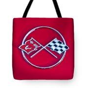 1962 Chevrolet Corvette Hood Emblem 2 Tote Bag