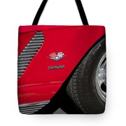 1962 Chevrolet Corvette Wheel Tote Bag