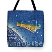 1962 Man In Space Stamp Tote Bag