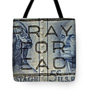 1962 Pray For Peace Stamp Collage Tote Bag