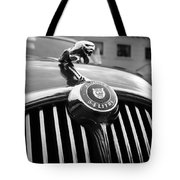 1963 Jaguar Front Grill In Balck And White Tote Bag