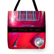 1963 Red Porsche S90 Coupe Poster Tote Bag