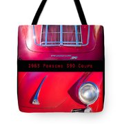 1963 Red Porsche S90 Coupe Poster S Tote Bag