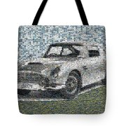 1964 Aston Martin Mosaic Tote Bag