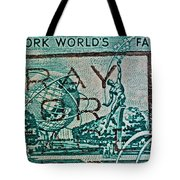 1964 New York World's Fair Stamp Tote Bag