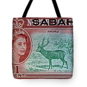 1964 North Borneo Sabah Stamp Tote Bag