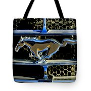 1965 Ford Shelby Mustang Grille Emblem Tote Bag