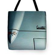 1966 Corvette Sting Ray Hood Insignia Tote Bag