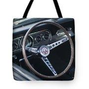 1966 Ford Mustang Cobra Steering Wheel  Tote Bag