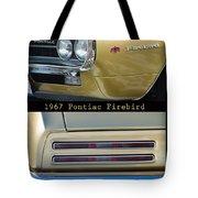 1967 Bronze Pontiac Firebird  Poster S Tote Bag