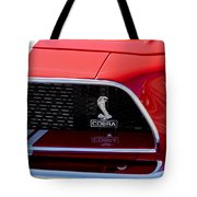 1968 Ford Mustang 427 Ci Fastback Grille Emblem Tote Bag
