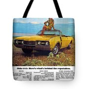 1968 Oldsmobile 4-4-2 - Here's What's Behind The Reputation. Tote Bag
