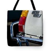 1969 Fiat 500 Taillight Emblem Tote Bag