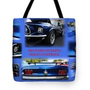 1969 Ford Mustang Mach 1 Fastback Tote Bag