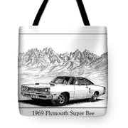 1969 Plymouth Super Bee Tote Bag by Jack Pumphrey