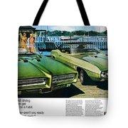 1969 Pontiac Gto And Firebird Tote Bag