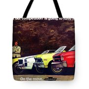 1970 Chevrolet Lineup - This Is What Our Competition Is Going To Have To Live With. Tote Bag