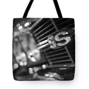 1970 Chevy Chevelle Ss 396 Black And White Tote Bag