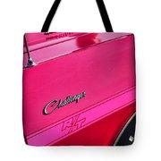 1970 Dodge Challenger Rt 440 Six Pack - Tickled Pink Tote Bag