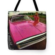 1970 Dodge Charger Tickled Pink Tote Bag