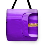 1970 Plum Crazy Plymouth Road Runner Tote Bag