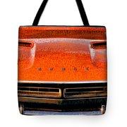 1971 Dodge Challenger - Orange Mopar Typography - Mp002 Tote Bag