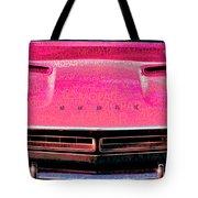 1971 Dodge Challenger - Pink Mopar Typography Tote Bag