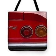 1972 Ferrari Dino 246gt Taillight Emblem Tote Bag