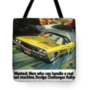 1973 Dodge Challenger Rallye Tote Bag