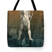7 Wonders Of The World, Colossus Tote Bag by Photo Researchers
